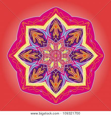 Mandala- Indian arnamentom.