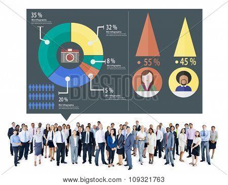 Analysis Analytic Marketing Sharing Graph Diagram Concept
