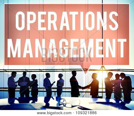 Operations Management Authority Director Leader Concept