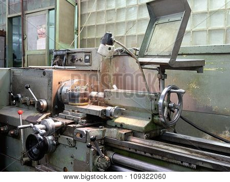 Equipment of metalworking shop in the factory