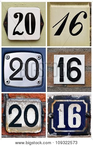 Composition of House Number signs