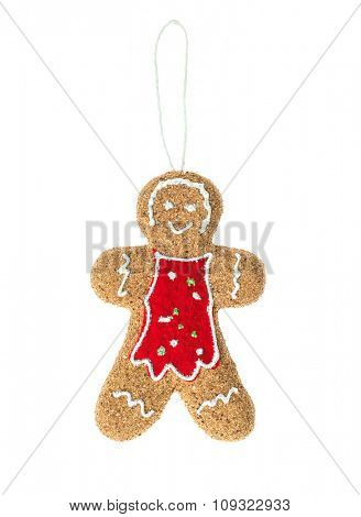 Gingerbread man on white background