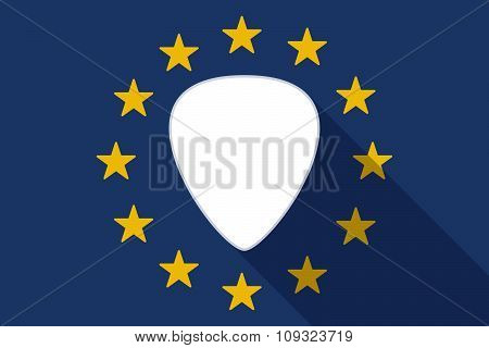 European Union  Long Shadow Flag With A Plectrum