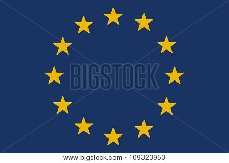 European Union  Long Shadow Flag With A  Delivery Truck