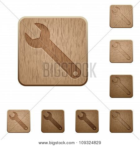 Wrench Wooden Buttons