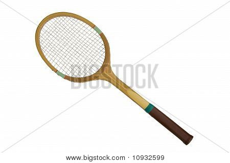 Old fashioned tennis racket
