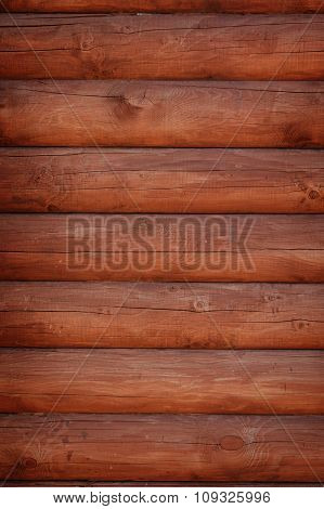 Shield With A Large Number Of Parallel Wooden Logs Texture