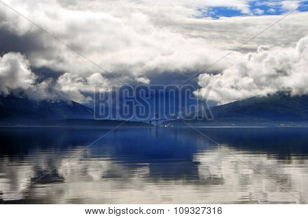 Fjord And Clouds