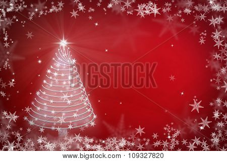 Magic Chritmas Tree Background Illustration