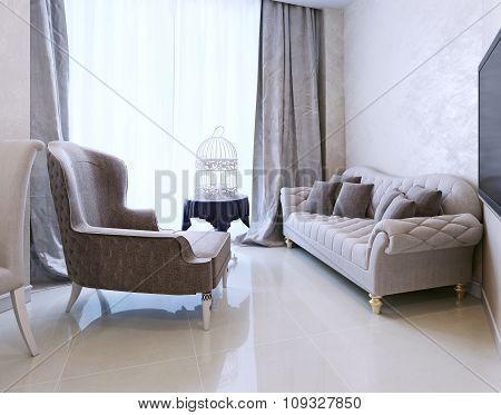 Lounge Area Art Deco Style