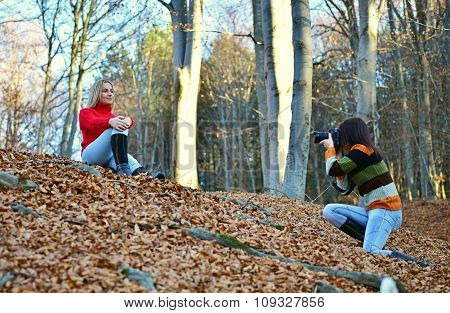 Two Girls Real Photos In Nature