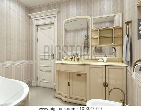 Bathroom Neoclassical Style
