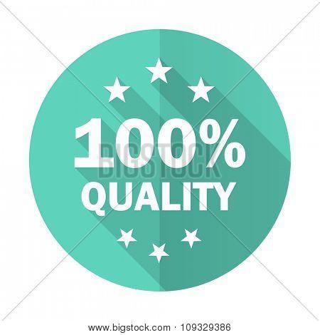 quality blue web flat design circle icon on white background