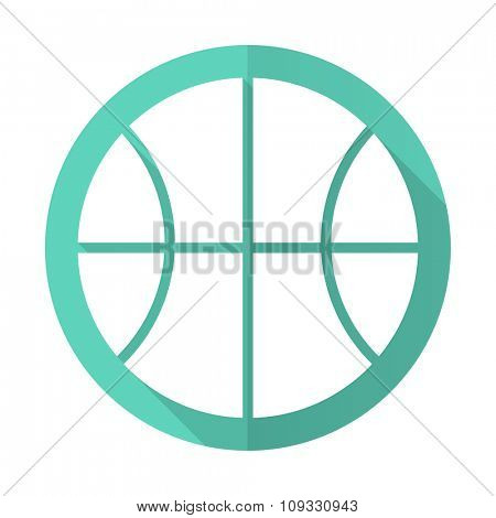 ball blue web flat design circle icon on white background