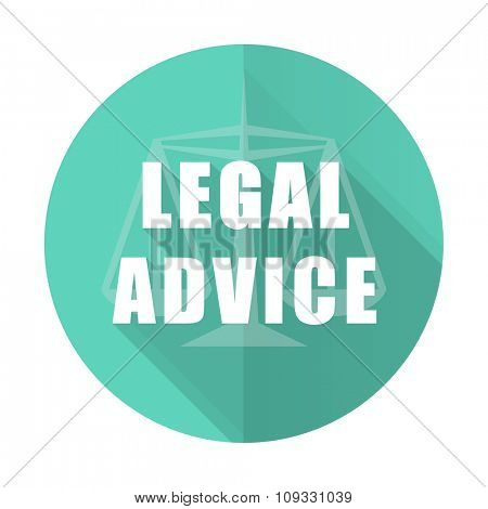legal advice blue web flat design circle icon on white background