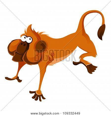 Orange cartoon monkey