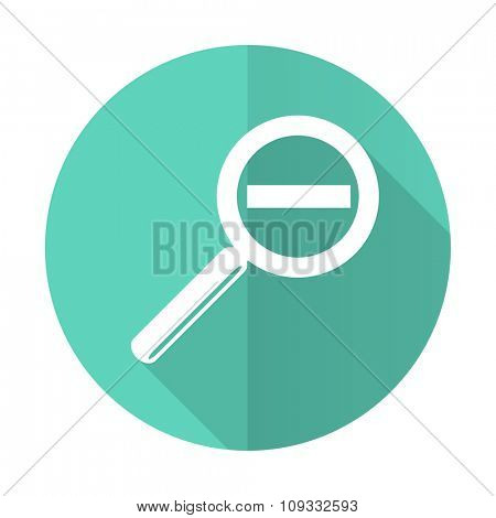 lens blue web flat design circle icon on white background
