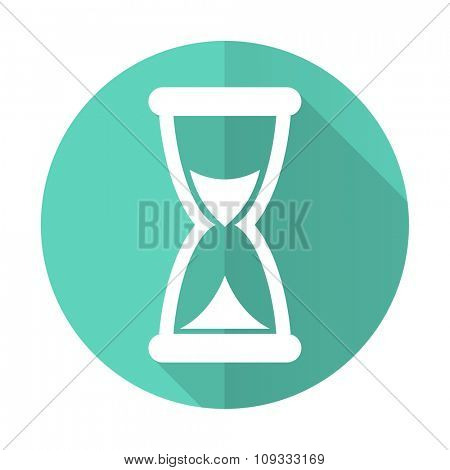 time blue web flat design circle icon on white background