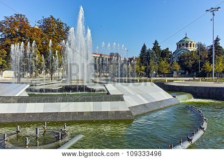 Fountain in the center of City of Pleven
