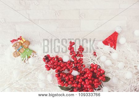 Christmas and  New Year decoration background.