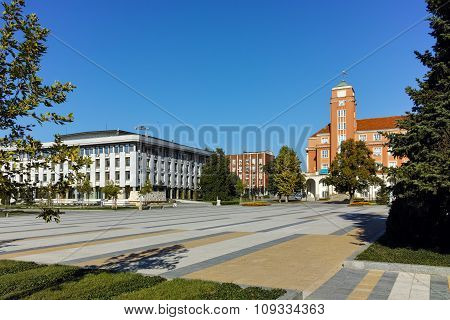 Panoramic view of Central square in  City of Pleven