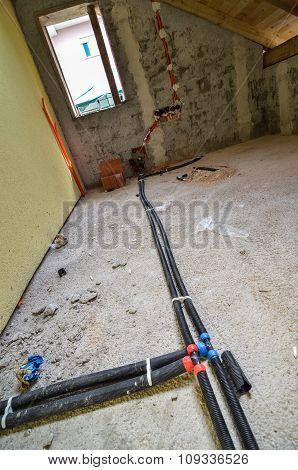 Installation For Home Heating In Residential Building