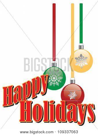 Christmas Tree Decorations Happy Holidays