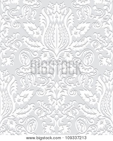 Paper Damask Wallpaper Pattern