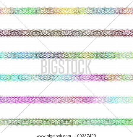 Colorful ornamental divider line design set