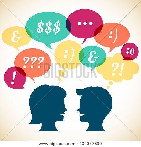 Retro Communication Concept