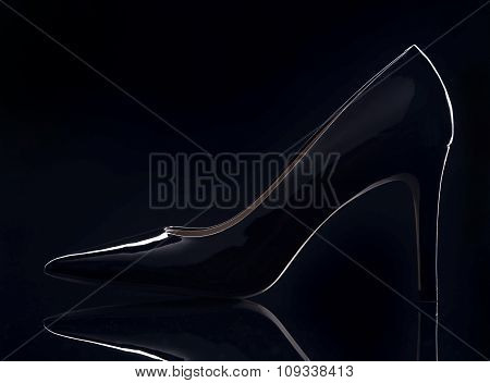 Black Patent Women's Shoe