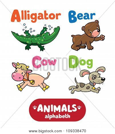 Animals alphabet or ABC.