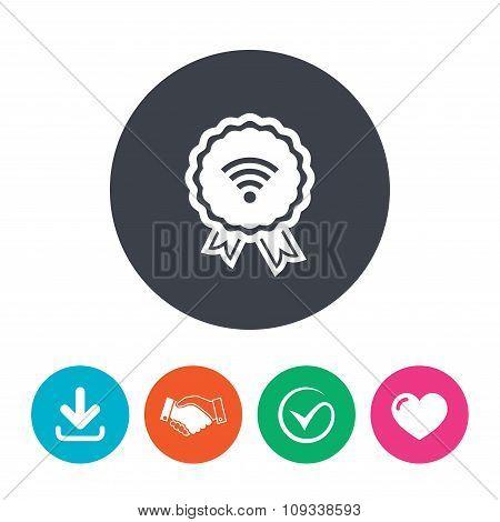 Award Wifi sign. Wi-fi symbol. Wireless Network.