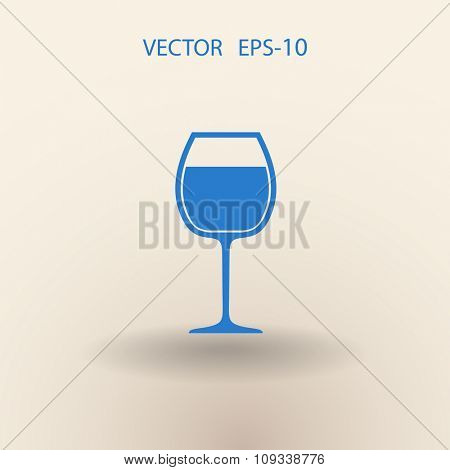 Flat a wine glass icon