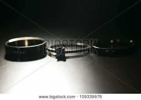 Three nice wedding rings