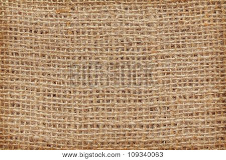 High Quality Close Up Picture Of Natural Jute Fabric