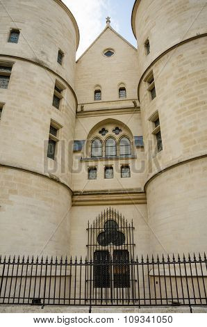 Close-up of the Conciergerie in Paris