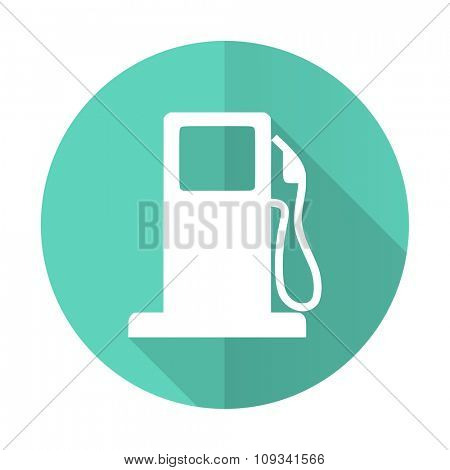 petrol blue web flat design circle icon on white background
