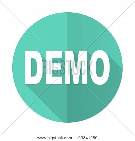 demo blue web flat design circle icon on white background