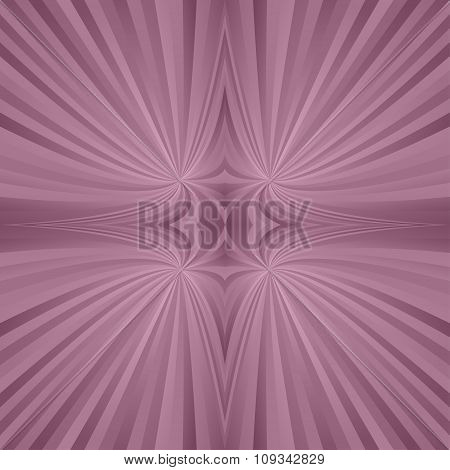 Vintage mirror symmetric ray background