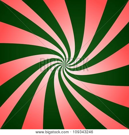 Red green twirl design