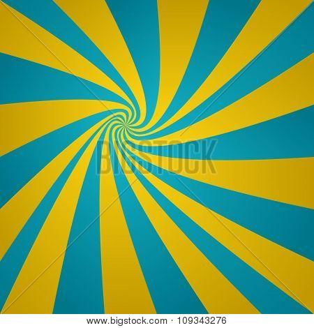 Cyan golden twirl background
