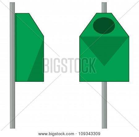 Green Outdoor Trash Can