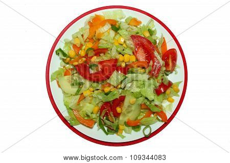 fresh salad mix from onions,potatoes,tomatoes