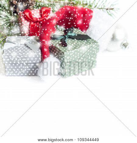 Christmas decoration on white background. Isolated on white