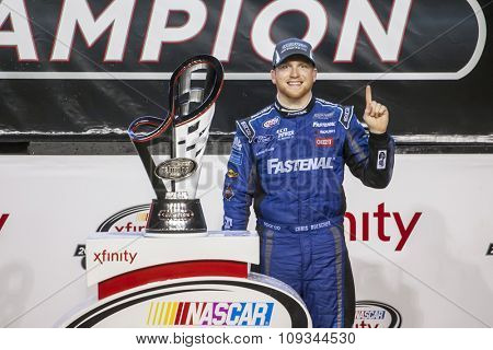 Homestead, FL - Nov 21, 2015:  Chris Buescher wins the Xfinity NASCAR Series at Homestead Miami Speedway in Homestead, FL.