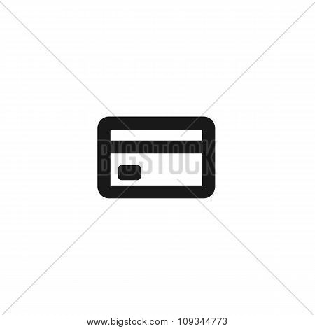 Black Plastic Bank Card Line Icon