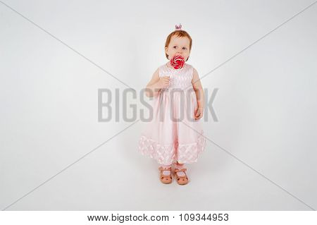 Little Girl with Candy cane