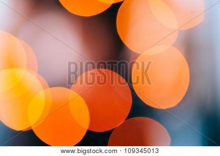 Colorful bokeh lights photo.