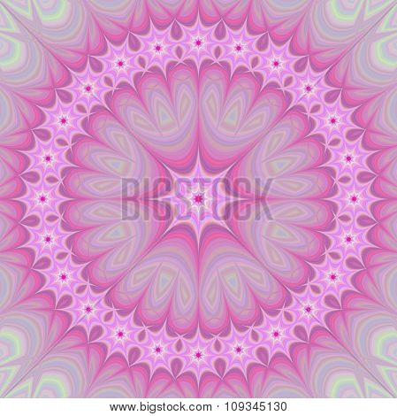 Pink girly mandala fractal design background